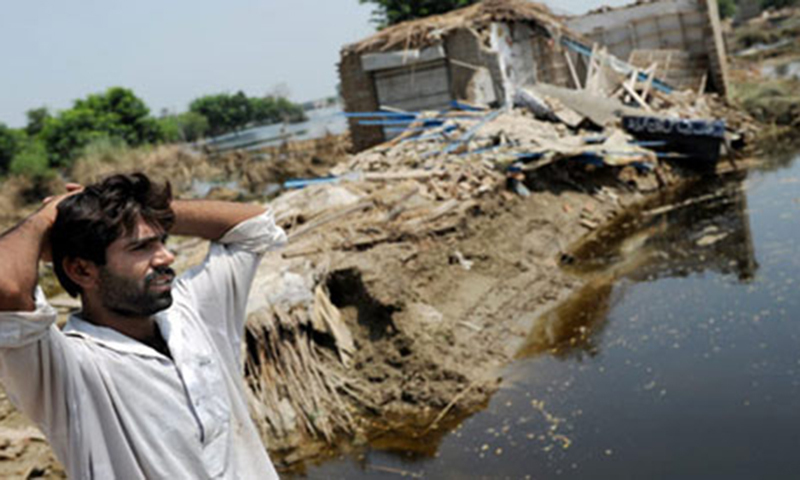 The natural disaster has not only led to losses in terms of human casualties and large scale displacement but has also damaged the agricultural country's major crops over an estimated area of more than 1.38 million acres. — Photo by AFP