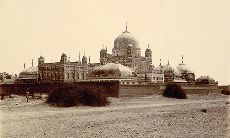 مزارات کا 1890 میں ایک منظر — فوٹو برٹش لائبریری