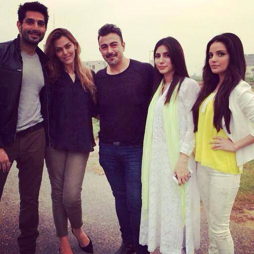 Left to right – Bilal Ashraf, Sana Bucha, Shaan Shahid, Uzma Khan and Armeena Khan.  – Publicity photo