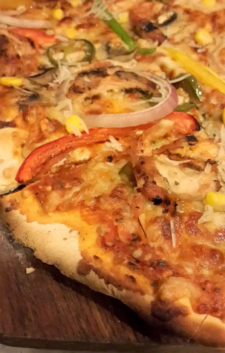 """Tex-Mex"" pizza. – Photo by author"