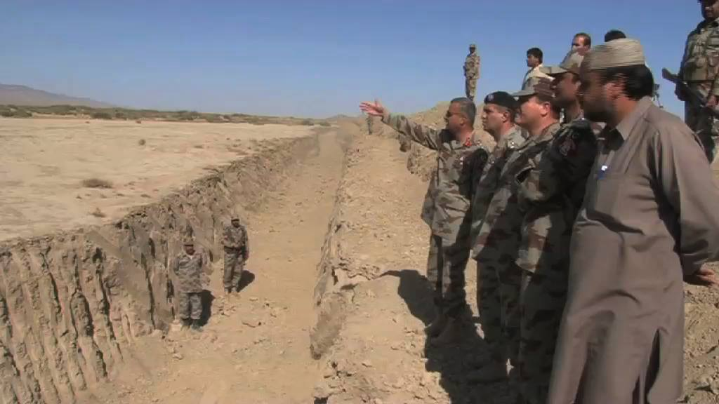 Frontier Corps personnel at the site of the trench. -Photo by author