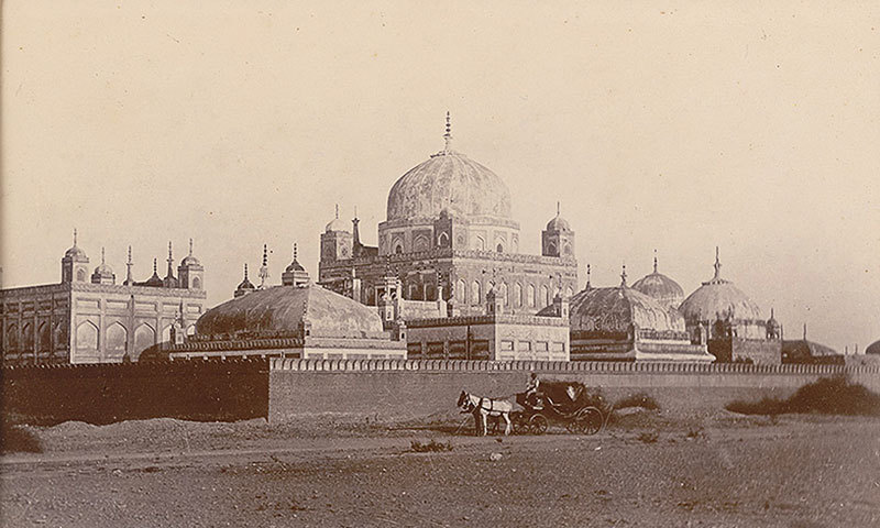 The tombs in 1900. — Photo courtesy of the British Library Archives