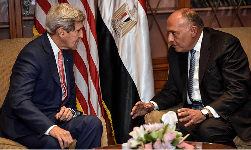 Kerry in Cairo to drum up support for action against IS