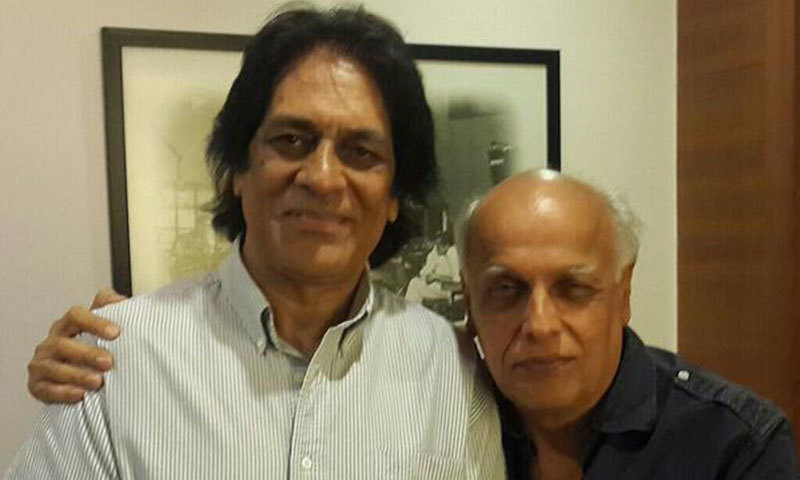 Shoaib Mansoor (L) with Mahesh Bhatt (R).-Photo Courtesy Mahesh Bhatt