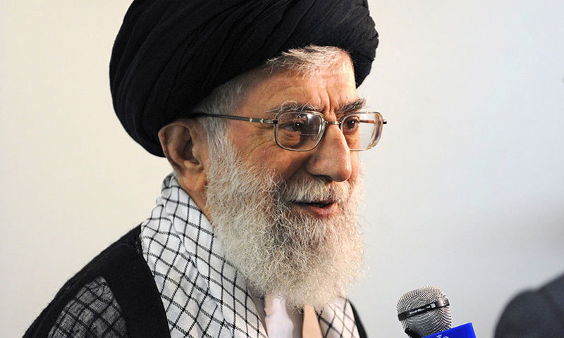 In this picture released by the official website of the office of the Iranian supreme leader, Supreme Leader Ayatollah Ali Khamenei speaks with Iran's state-run TV in Tehran, Monday, Sept 15, 2014. – AP Photo