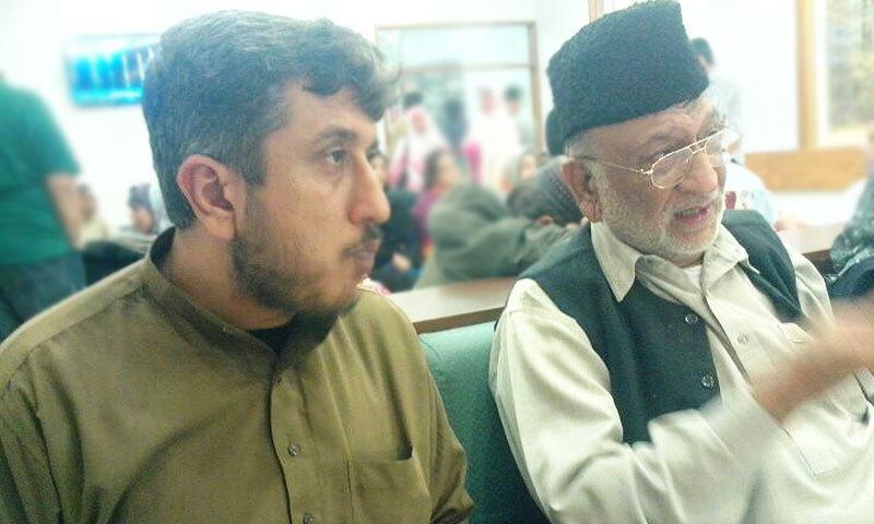 Ali with his father, Allama Abbas Kumaili.
