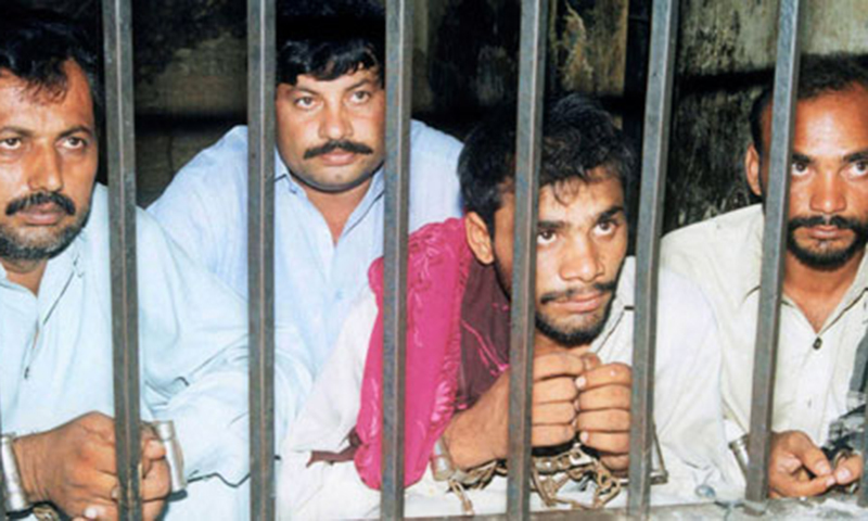 Four men, accused in connection with the gang-rape of Mukhtaran Mai.—  Reuters file photo