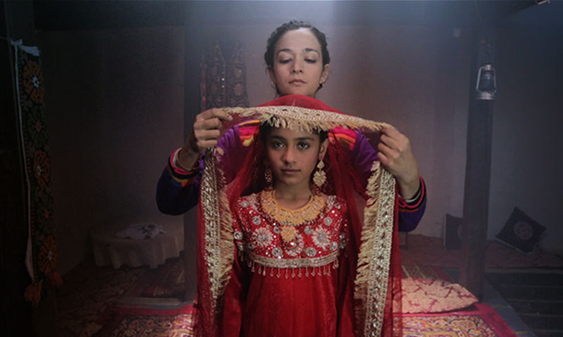 "Samiya Mumtaz and Saleha Aref in a scene from ""Dukhtar"". – Publicity Photo"