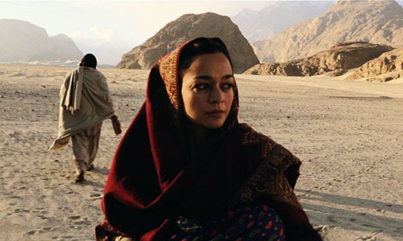 "Samiya Mumtaz in a scene from ""Dukhtar"". – Publicity Photo"