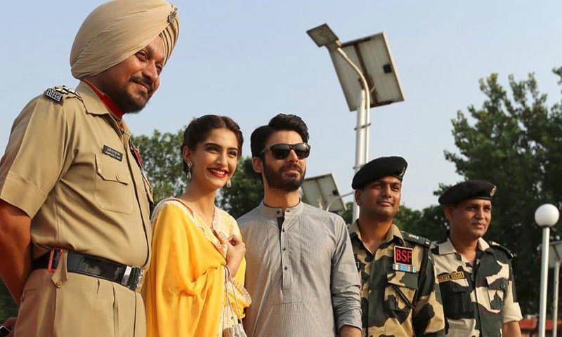 Fawad, Sonam attend Wagah Border ceremony