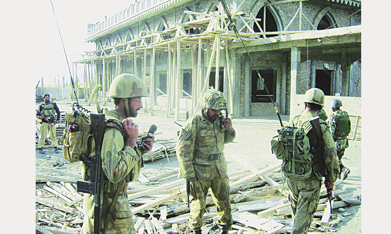 December, 2007: Pakistani troops capture Maulana Fazlullah's sprawling Imam Dehri complex in Mingora.—AP file photo