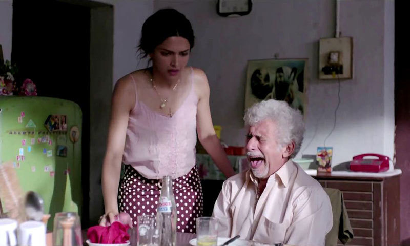 "Deepika Padukone and Naseeruddin Shah in a scene from ""Finding Fanny"". – Courtesy Photo"