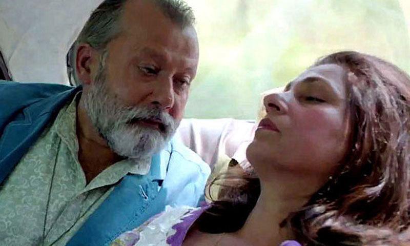"Pankaj Kapoor and Dimple Kapadia in a scene from ""Finding Fanny"""