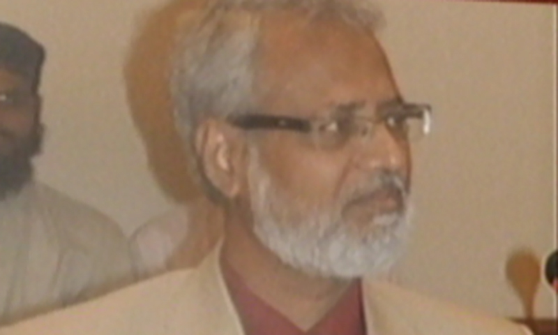 Dr Shakeel Auj, Dean of Islamic Studies department, University of Karachi. — Screengrab
