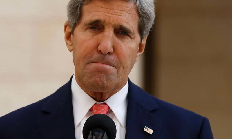 US Secretary of State John Kerry gestures during a media briefing. – AP/File Photo