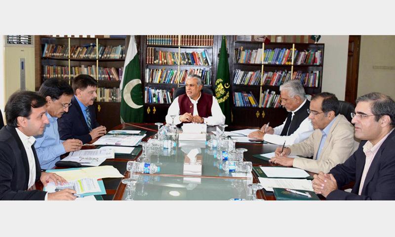 Finance Minister Ishaq Dar chairs a meeting on Pakistan Steel Mills revival on Saturday.