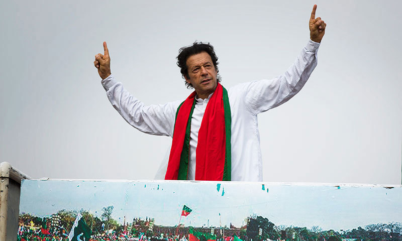 Over the course of the past month or so, the mental image we all had of Imran Khan, has begun to change. — Photo by AP