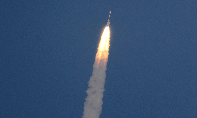 In this Nov. 5, 2013, file photo, a rocket carrying the Mars orbiter takes off from the east-coast island of Sriharikota, India. — Photo by AP