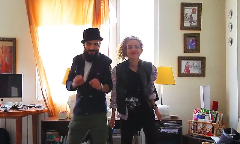 Screengrab from the 'Happy We are from Tehran' video.