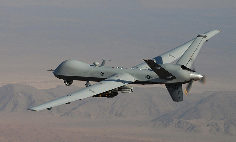 This pictures shows an armed US Air Force MQ-9 Reaper during a combat mission in southern Afghanistan. — File photo/AP