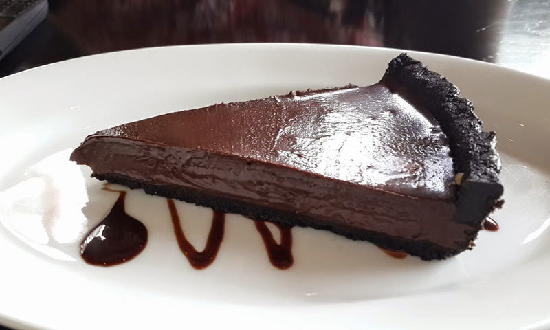 100% Chocolate Belgian Tart. – Photo by author