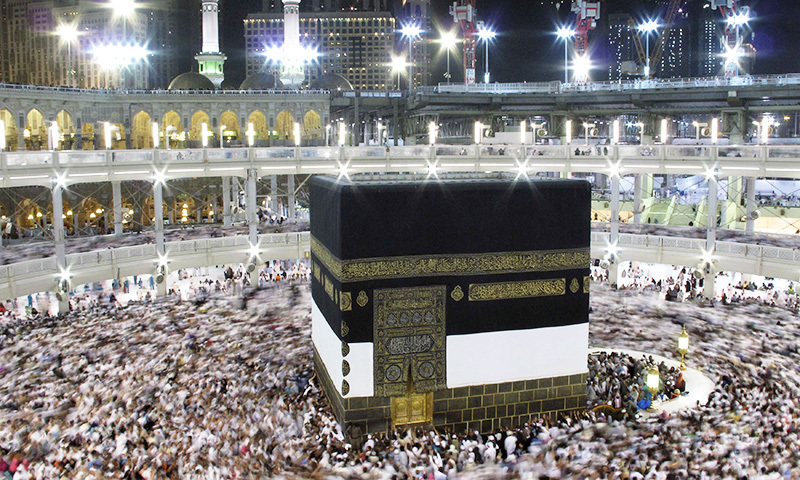 Muslim pilgrims pray around the holy Kaaba at the Grand Mosque, during the annual haj pilgrimage September 30 2014. -  Reuters