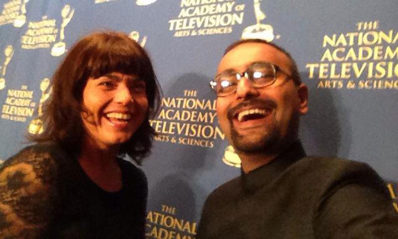 Associate Producer Mohamamd Ali with Hilke Schellmann. -Photo courtesy Mohammad Ali