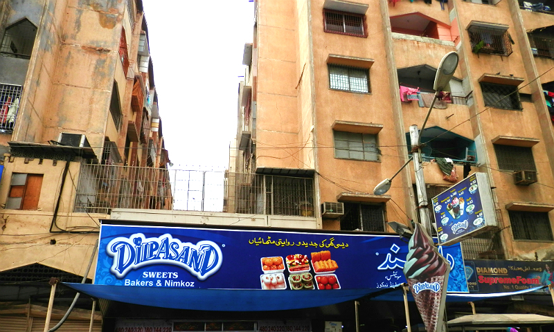 Dilpasand sweets on Bandar Road in Karachi. —Photo by Akhtar Balouch
