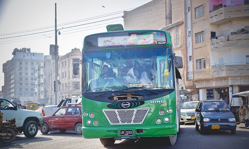 Make way for the green bus.