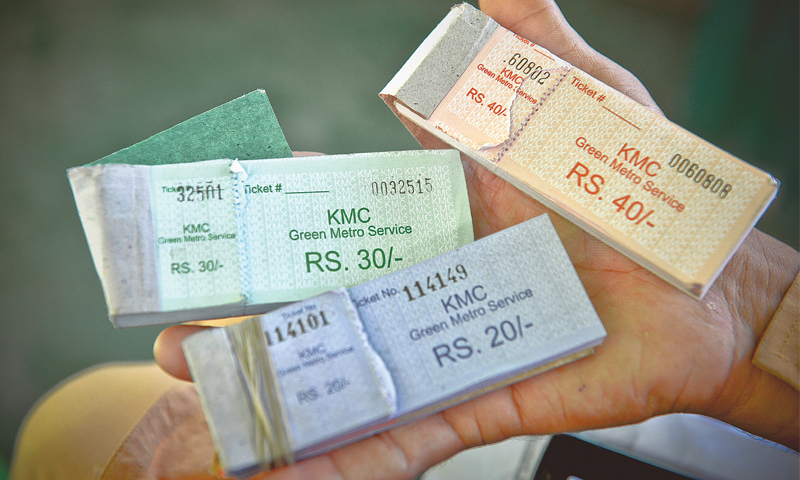 Different value tickets depending on the travelling distance.