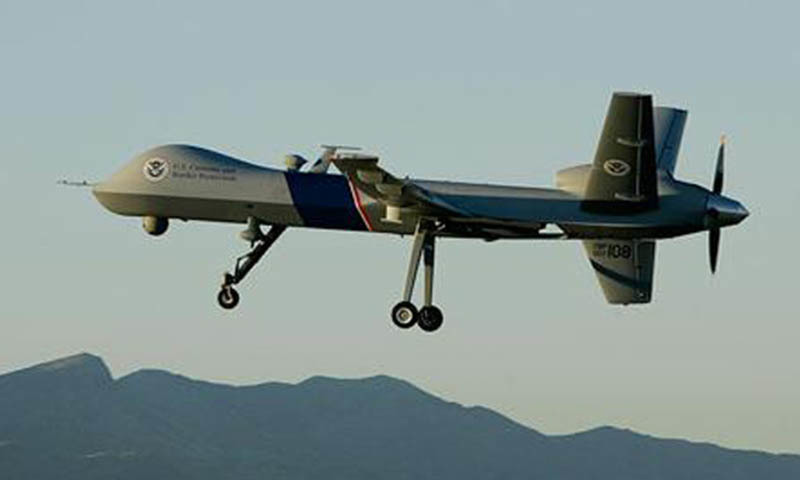 A US drone is seen in the image. — File photo by AP