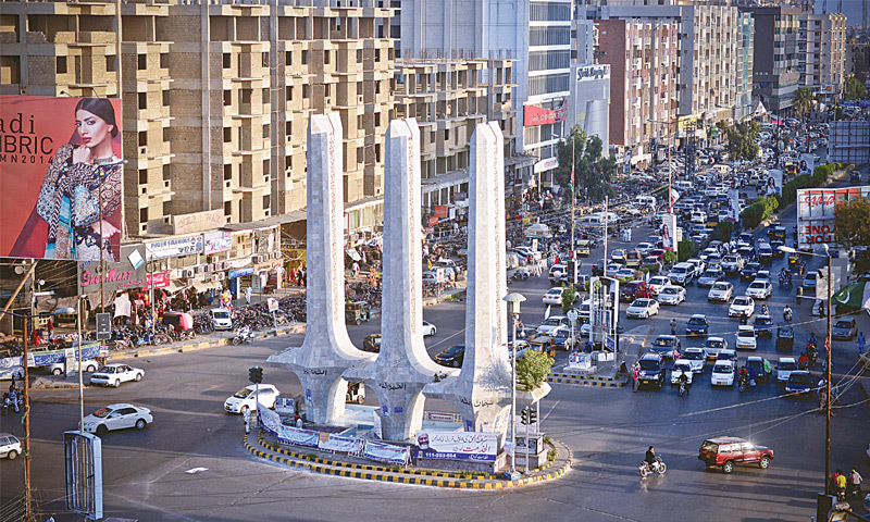 The Teen Talwar traffic intersection has caught the attention of protesters in recent months.—White Star