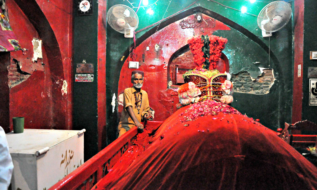The grave of Lal Shahbaz Qalandar.—Farooq Soomro