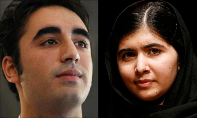 Bilawal felicitated Malala over telephone on winning the Nobel Peace Prize. – File Photos