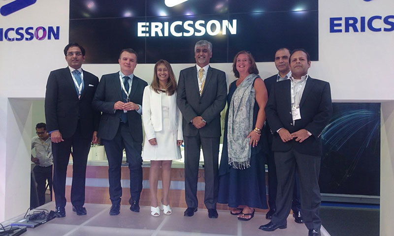 Warid Telecom CEO Muneer Farooqui announcing partnership with Ericsson at GITEX Technology week in Dubai.—Photo: PR