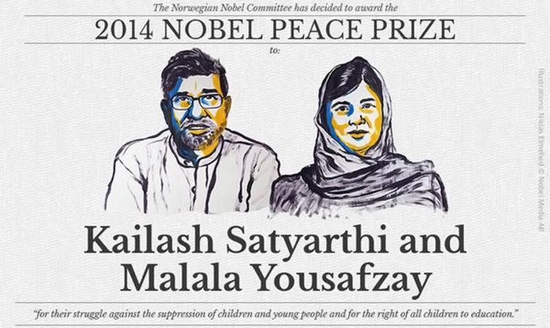 ہندو اور مسلم ہیروز کو ساتھ سیلیبریٹ کرنے کا آئیڈیا سندھ کی صوبائی حکومت کا تھا، نوبیل کمیٹی نے یہ آئیڈیا چرایا ہے۔ -- فوٹو: NobelPrize/Twitter@