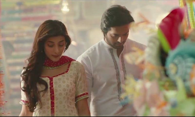 Fahad Mustafa and Urwa Hocane in a scene from