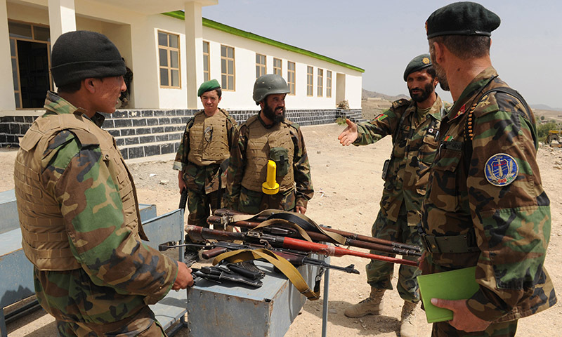 This picture shows Afghan army personnel. — File photo/AFP