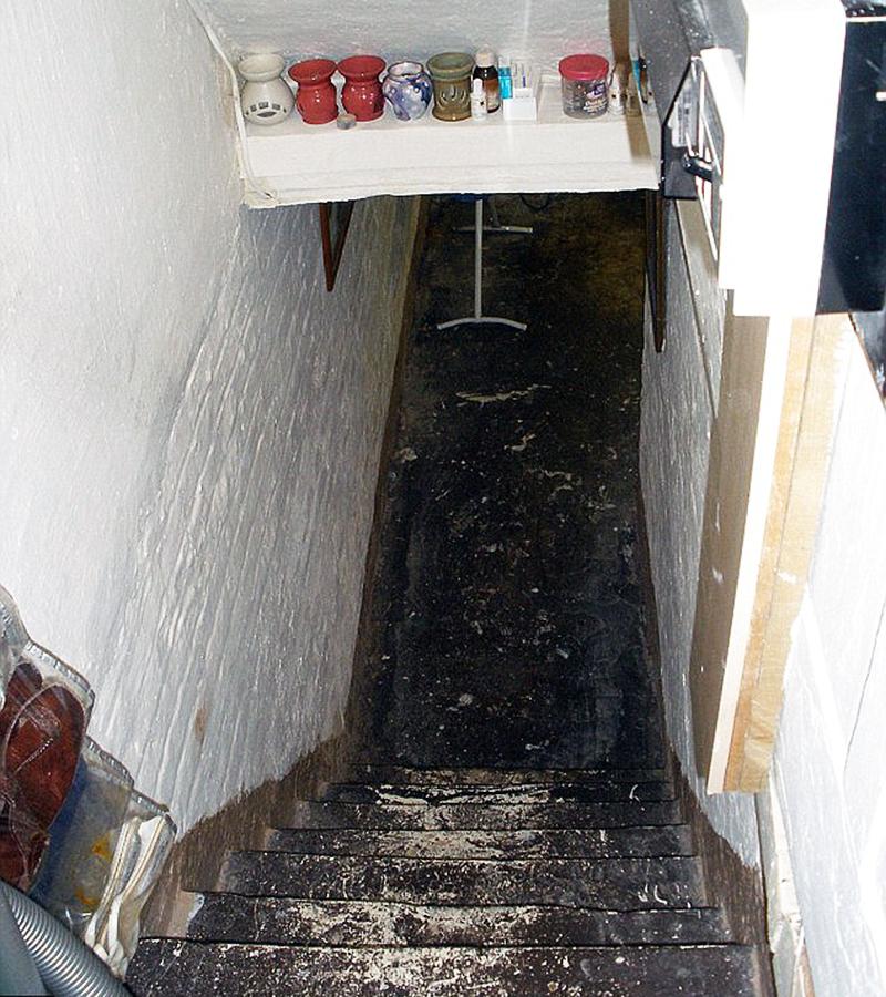 یہ اس تہہ خانے کی تصویر ہے، جہاں اس معذور لڑکی نے تقریباً دس برس گزارے۔ —. فائل فوٹو