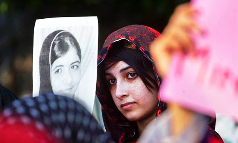 It is perversely simple to support Malala and what she stands for. —Photo by AP