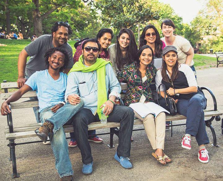 Mehreen Jabbar with cast and crew of Jackson Heights. – Photo Courtesy: Mehreen Jabbar