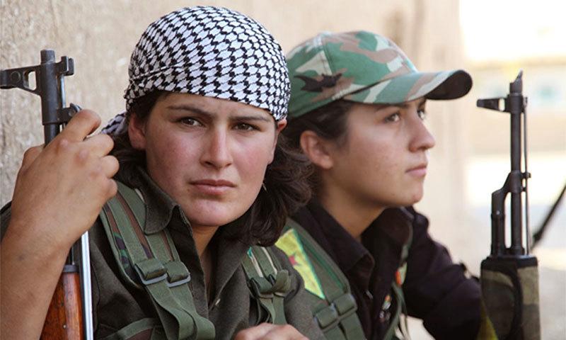 YPG fighters. —Video screengrab