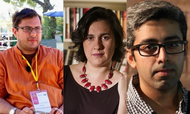 (L-R): Omar Shahid Khan, Kamila Shamsie, Bilal Tanweer