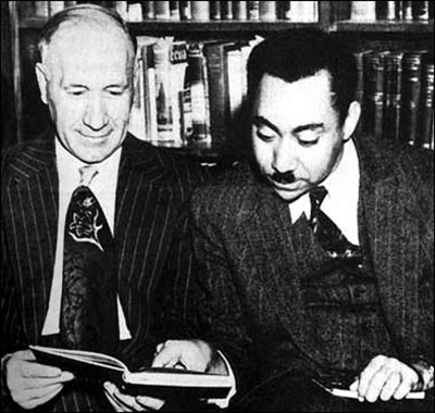 Egyptian Islamic ideologue S. Qutb (right) with an American intellectual in 1950. He was hanged by the government of Gamal Abdul Nasser in Egypt in 1966 (on charges of treason and inciting violence).