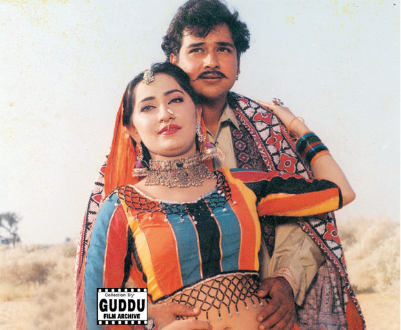 Faisal Qureshi and Marvi in the film Marvi.