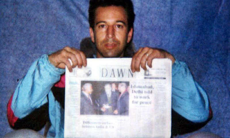 One of the photos taken of Wall Street Journal reporter Daniel Pearl prior to his death.—AP/File photo