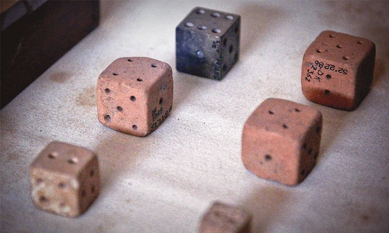And you thought the dice originated in Europe?