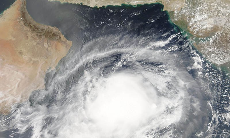 The weather system was last reported in the central Arabian Sea region.   — Photo courtesy of Wikimedia commons
