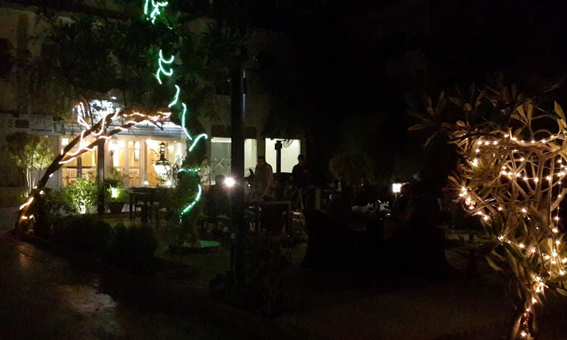 Popular scenic outdoor seating, where sheesha is also served. — Photo by author.