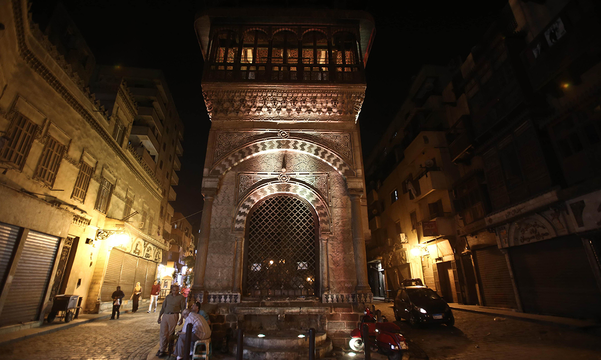 Sabil Abdul-Rahman Kuthada monument build in 1744 by pioneer Egyptian architect Abdul-Rahman Kuthada on Al-Mu'izz al-Din Illah Street, one of the most important historical streets in the Islamic quarter of Cairo. — Photo by AFP